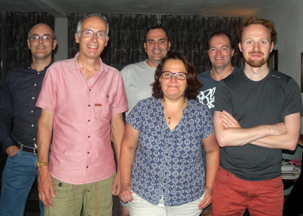 v.l.n.r. Ramon, Hans, Marthien, Marianne, Wouter en Jim.